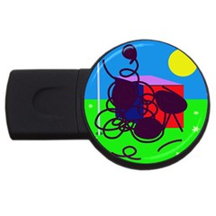 Sunny Day Usb Flash Drive Round (2 Gb)  by Valentinaart