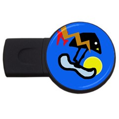 Little Bird Usb Flash Drive Round (2 Gb)  by Valentinaart