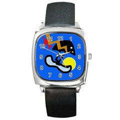 Little Bird Square Metal Watch by Valentinaart