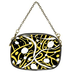 Yellow Movement Chain Purses (one Side)  by Valentinaart