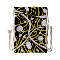 Yellow Movement Drawstring Bag (small) by Valentinaart