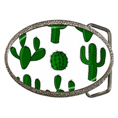 Cactuses Pattern Belt Buckles by Valentinaart