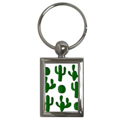 Cactuses Pattern Key Chains (rectangle)  by Valentinaart