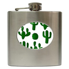 Cactuses Pattern Hip Flask (6 Oz) by Valentinaart