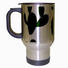 Cactuses Pattern Travel Mug (silver Gray) by Valentinaart