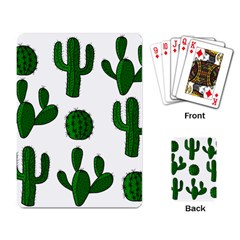 Cactuses Pattern Playing Card by Valentinaart