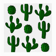 Cactuses Pattern Medium Glasses Cloth (2 Side) by Valentinaart