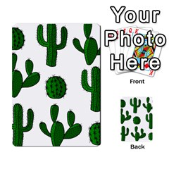 Cactuses Pattern Multi Purpose Cards (rectangle)  by Valentinaart