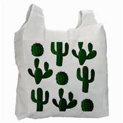 Cactuses Pattern Recycle Bag (one Side) by Valentinaart