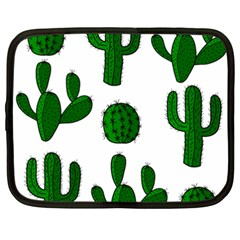 Cactuses Pattern Netbook Case (xxl)  by Valentinaart