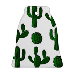 Cactuses Pattern Bell Ornament (2 Sides) by Valentinaart
