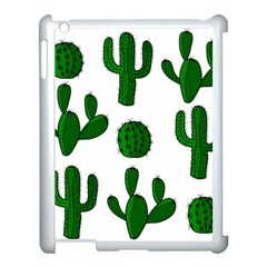 Cactuses Pattern Apple Ipad 3/4 Case (white) by Valentinaart