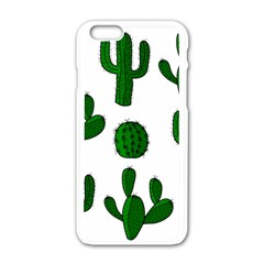 Cactuses Pattern Apple Iphone 6/6s White Enamel Case
