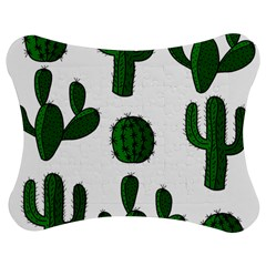 Cactuses Pattern Jigsaw Puzzle Photo Stand (bow) by Valentinaart