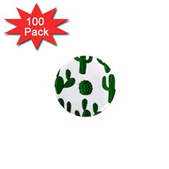 Cactuses Pattern 1  Mini Magnets (100 Pack)  by Valentinaart