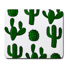 Cactuses Pattern Large Mousepads by Valentinaart