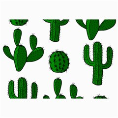 Cactuses Pattern Collage Prints by Valentinaart