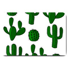 Cactuses Pattern Large Doormat  by Valentinaart