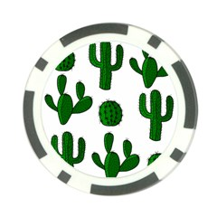 Cactuses Pattern Poker Chip Card Guards (10 Pack)  by Valentinaart