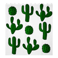 Cactuses Pattern Shower Curtain 66  X 72  (large)  by Valentinaart