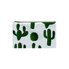 Cactuses Pattern Cosmetic Bag (small)  by Valentinaart