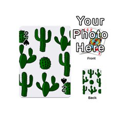 Cactuses Pattern Playing Cards 54 (mini)  by Valentinaart