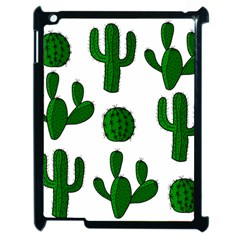 Cactuses Pattern Apple Ipad 2 Case (black) by Valentinaart