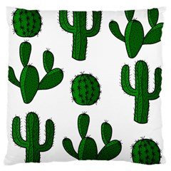 Cactuses Pattern Large Cushion Case (one Side) by Valentinaart