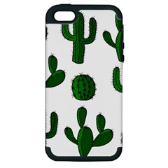 Cactuses Pattern Apple Iphone 5 Hardshell Case (pc+silicone) by Valentinaart