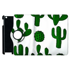 Cactuses Pattern Apple Ipad 3/4 Flip 360 Case by Valentinaart