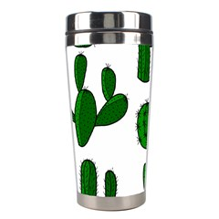 Cactuses Pattern Stainless Steel Travel Tumblers by Valentinaart
