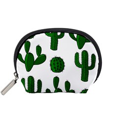 Cactuses Pattern Accessory Pouches (small)  by Valentinaart