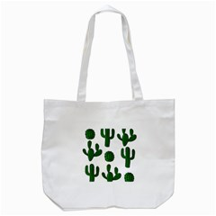 Cactuses Pattern Tote Bag (white) by Valentinaart