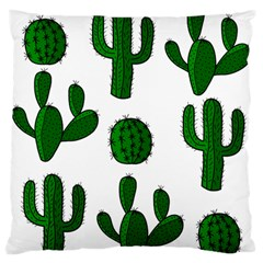 Cactuses Pattern Large Flano Cushion Case (two Sides) by Valentinaart