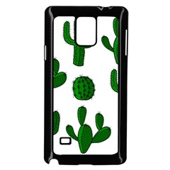Cactuses Pattern Samsung Galaxy Note 4 Case (black) by Valentinaart