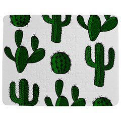 Cactuses Pattern Jigsaw Puzzle Photo Stand (rectangular) by Valentinaart