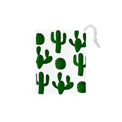 Cactuses Pattern Drawstring Pouches (xs)  by Valentinaart