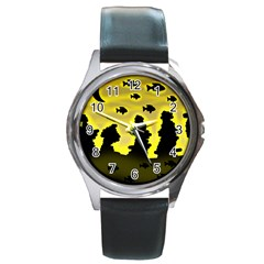 Khazar s Dream  Round Metal Watch by Valentinaart