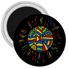Colorful Bang 3  Magnets by Valentinaart