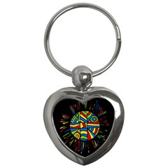 Colorful Bang Key Chains (heart)  by Valentinaart