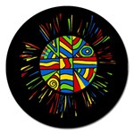Colorful bang Magnet 5  (Round) Front