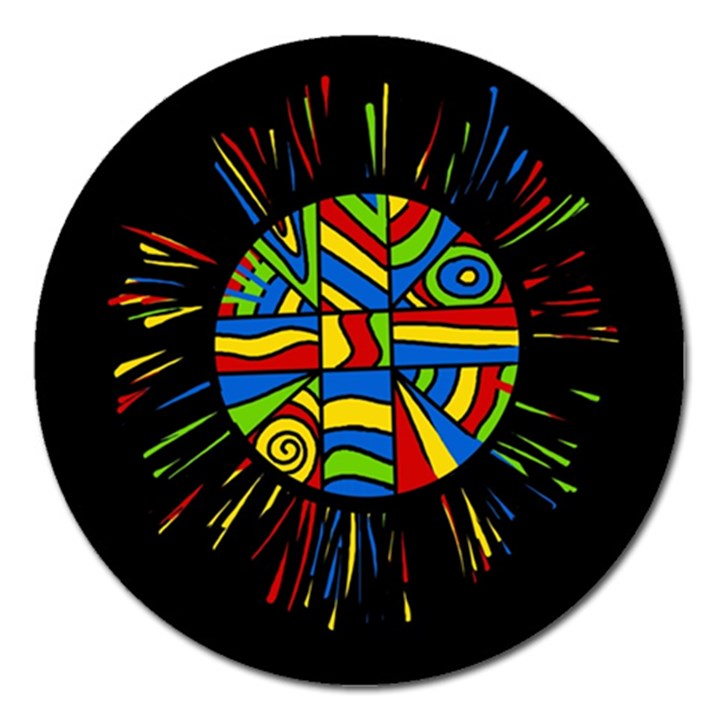Colorful bang Magnet 5  (Round)
