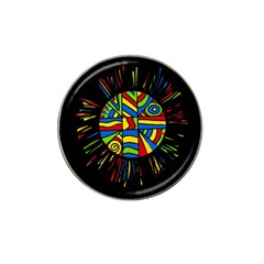 Colorful Bang Hat Clip Ball Marker by Valentinaart