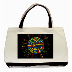 Colorful Bang Basic Tote Bag by Valentinaart