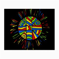 Colorful Bang Small Glasses Cloth (2-side) by Valentinaart