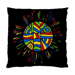 Colorful Bang Standard Cushion Case (one Side) by Valentinaart