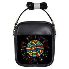 Colorful Bang Girls Sling Bags by Valentinaart