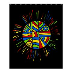 Colorful Bang Shower Curtain 60  X 72  (medium)  by Valentinaart