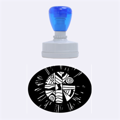 Colorful Bang Rubber Oval Stamps