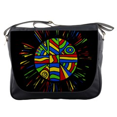 Colorful Bang Messenger Bags by Valentinaart